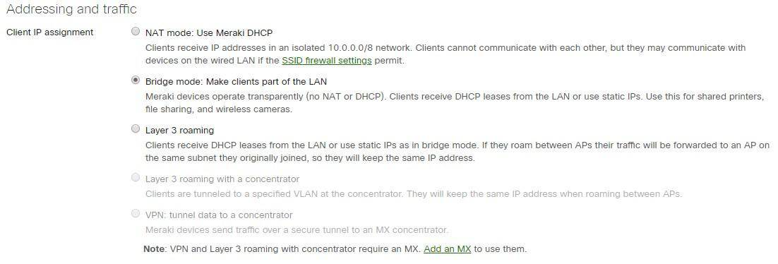 addressing traffic - Cisco Meraki
