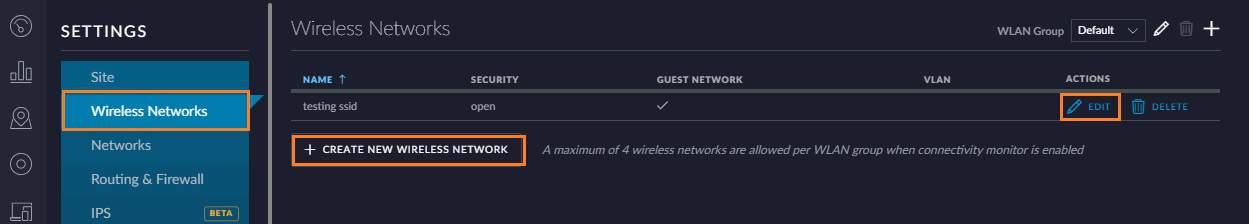 create network - Ubiquiti Unifi
